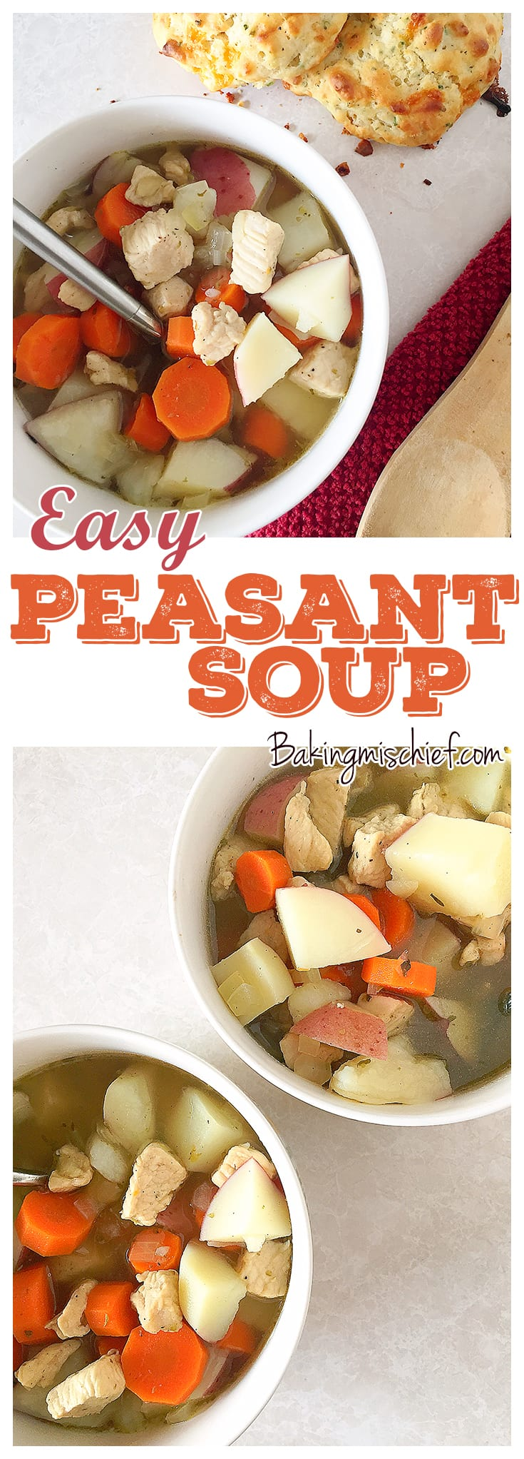 Easy Peasant Soup - Healthy and hearty, this is the world's easiest homemade chicken soup!