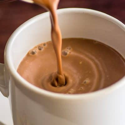 This Hot Chocolate for One recipe is just three simple ingredients. It's quick, easy, and delicious, perfect for those times when you need some hot chocolate NOW. | #HotChocolate | #Chocolate | #Drinks | #Christmas |