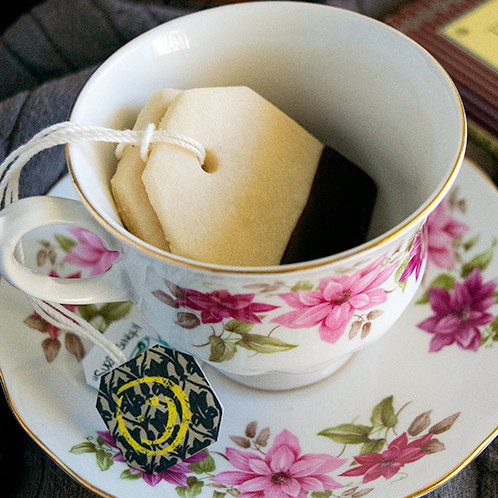 "Tea Bag Cookies with Printable ""Sherlock"" Tea Tags and Bonus Recipe"