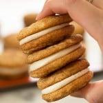 Snickerdoodle Sandwich Cookies With Eggnog Buttercream
