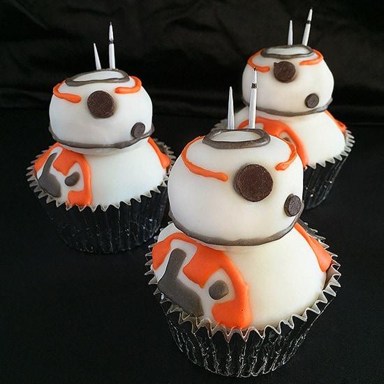 Star Wars Bb 8 Cupcakes Baking Mischief