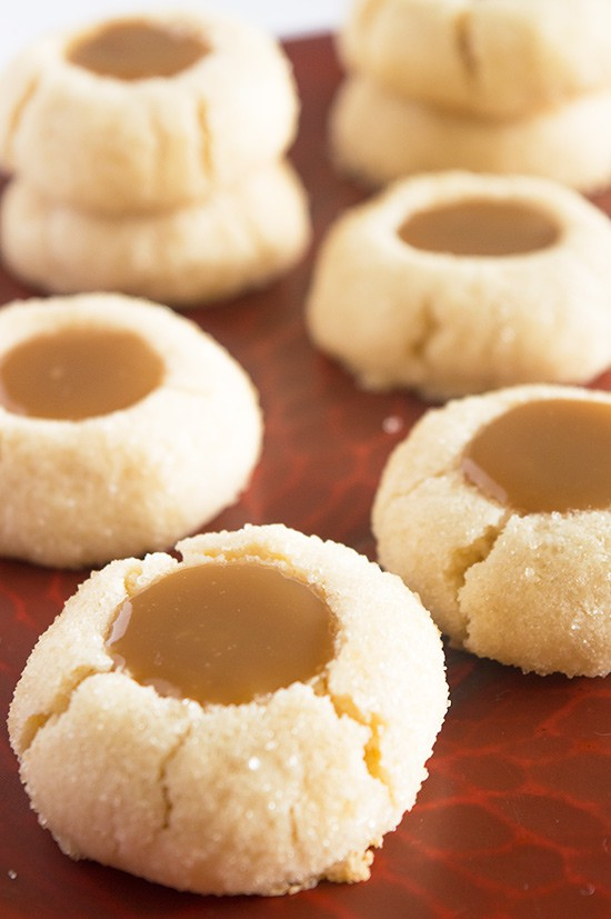 Butterscotch thumbprint cookies
