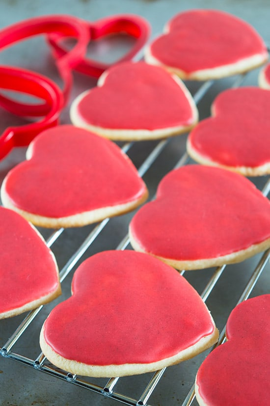 Heart Cookies with Cinnamon Icing for Valentine's Day and everyday. From BakingMischief.com
