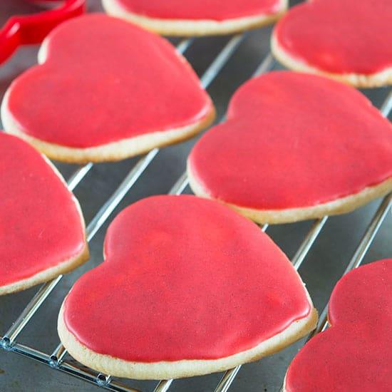 Copycat Heart Cookies with Cinnamon Icing