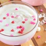 Pink Hot Chocolate with Mason Jar Whipped Cream