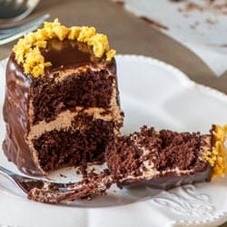 Delicious Everyday's Triple Chocolate Honeycomb Cakes