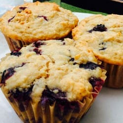 Making Healthy Choices' Buttermilk Oatmeal Muffins with Blueberries and Lemon