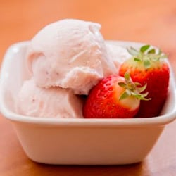 The Missing Lokness' Roasted Strawberry and Buttermilk Ice Cream