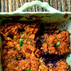 This is How I Cook's Blackberry, Blueberry, Basil and Brown Butter Cobbler