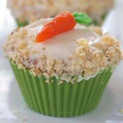 What a Girl Eats' Carrot Cake Cupcakes