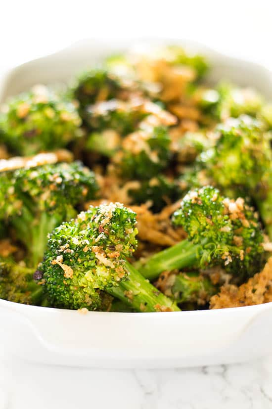 veggie side dishes panko and parmesan broccoli 30572