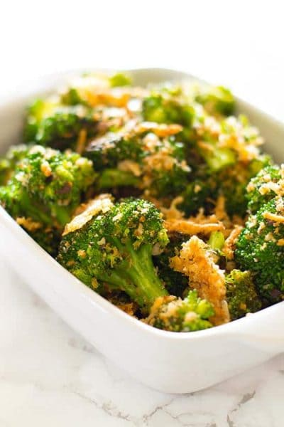 Quick Panko and Parmesan Broccoli