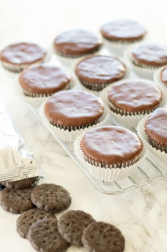Thin Mint Cupcakes are a delicious and easy cupcake version of the most popular Girl Scout Cookie. From BakingMischief.com