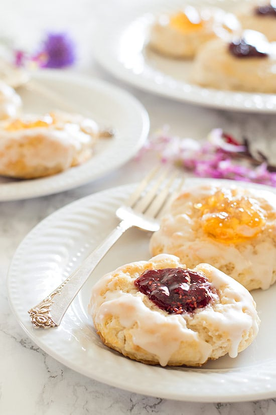 These jam scones are perfect for brunch or a sunny afternoon tea party!