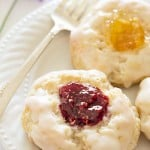 Glazed Jam Scones