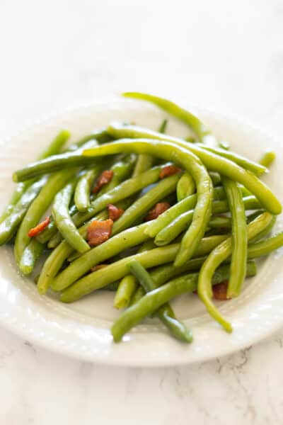 Quick Green Beans With Bacon Side Dish