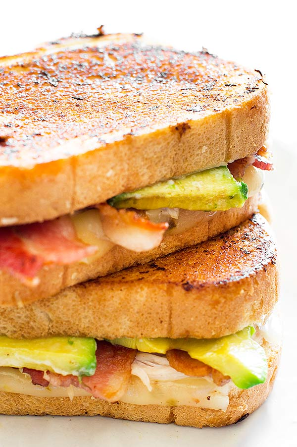 cheese sandwich loaded with bacon, avocado, chicken, and pepper jack ...