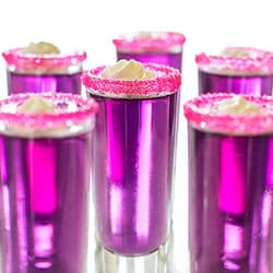 Candy-Sweet Jello Shots with Triple Sec Whipped Cream