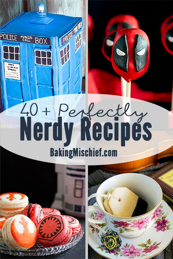 40+ perfectly nerdy recipes inspired by books, television, and movies. Recipes for everything from 'Game of Thrones' and 'The Walking Dead' to 'Star Wars' and the Marvel Cinematic Universe!
