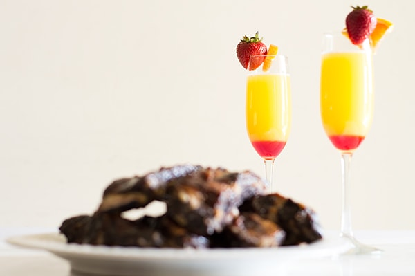 """Happy Endings"" Ribs and Mimosas recipes! From BakingMischief.com"