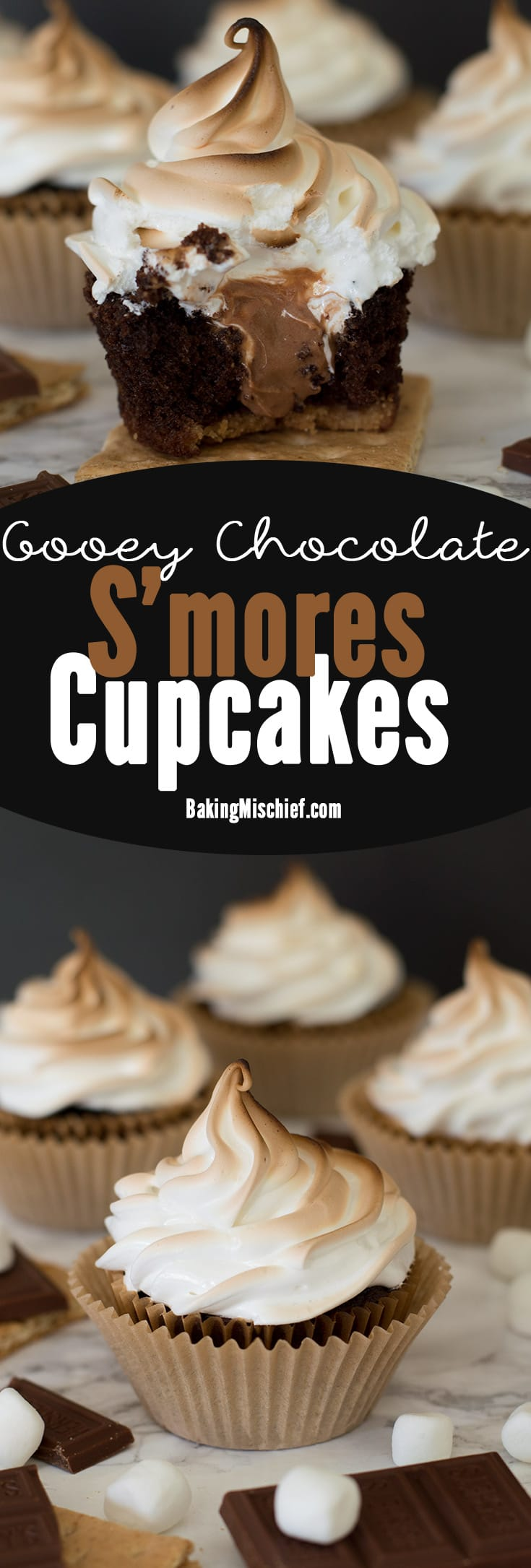 How To Make Gooey Chocolate Smores Cupcakes