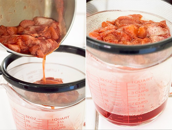 Quick and easy homemade strawberry syrup, perfect for serving over waffles, pancakes, or ice cream. Recipe includes nutritional information. From BakingMischief.com