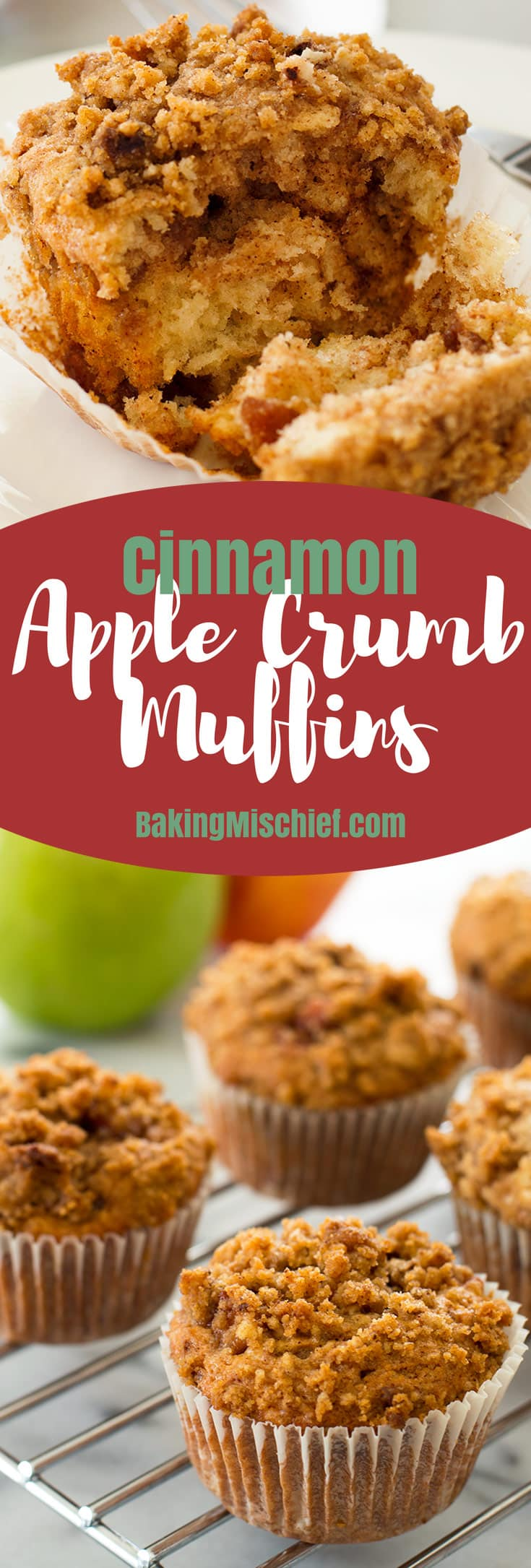 Apple Cinnamon Crumb Muffins Recipe — Dishmaps