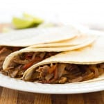 Easy Slow Cooker Beef Fajitas for Two