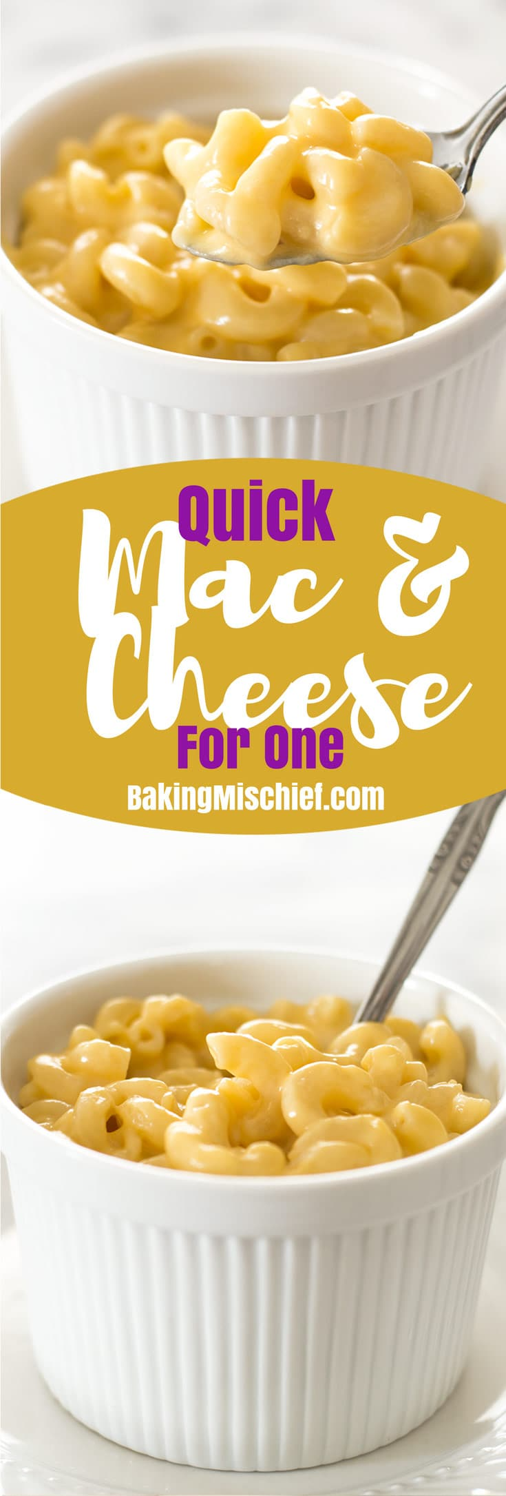 Quick mac and cheese for one baking mischief a quick recipe for mac and cheese for one easy cheesy and oh forumfinder Images