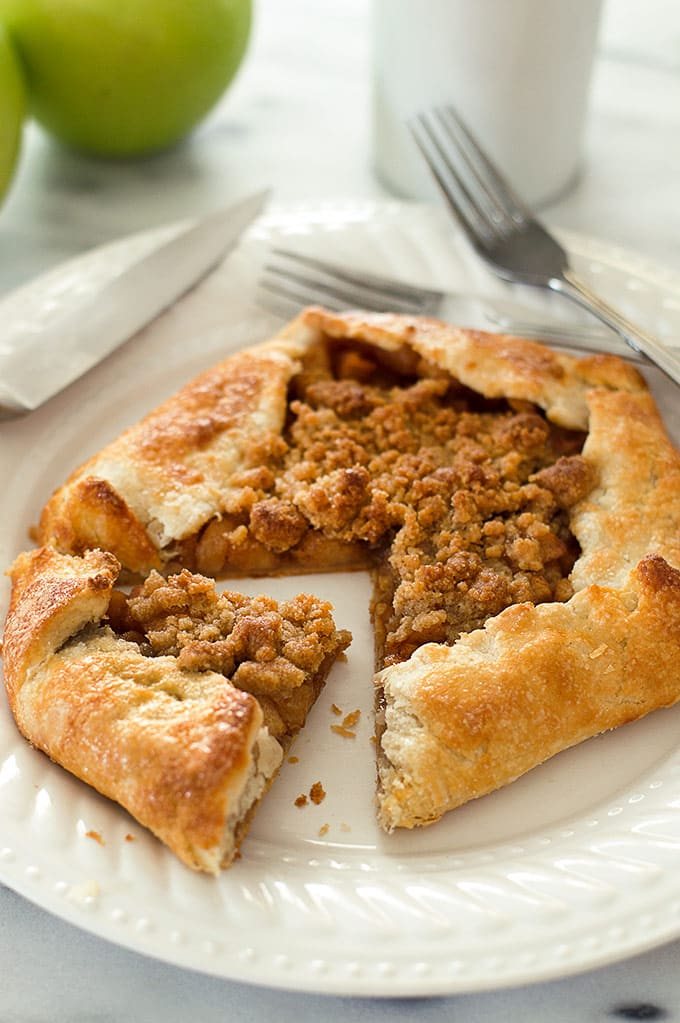 This Dutch Apple Galette for Two is an easy and beautiful rustic dessert for those days when you feel like pie without all the hassle. Recipe includes nutritional information. From BakingMischief.com