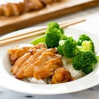 This easy teriyaki chicken with homemade teriyaki sauce has to be one of the the simplest, most delicious dinners ever. Recipe includes nutritional information. From BakingMischief.com