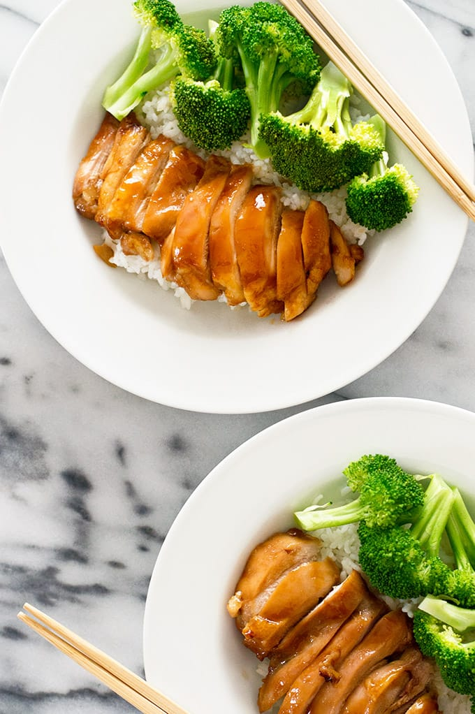 This easy teriyaki chicken with homemade teriyaki sauce has to be one of the simplest, most delicious dinners ever. Recipe includes nutritional information. From BakingMischief.com