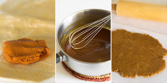 Squeezed Pumpkin Puree, Browned Butter and Pumpkin Puree, Dough (1/2 batch)