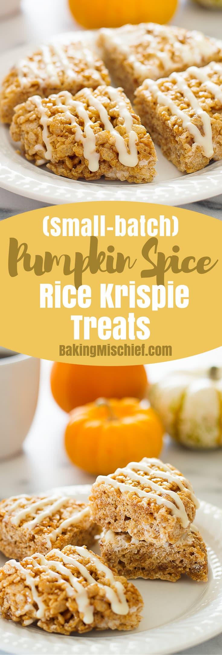 Small-batch Pumpkin Spice Rice Krispie Treats - Baking ...