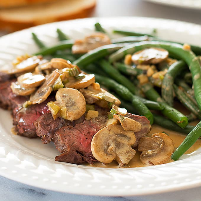 Quick and Easy Broiled Steak With Mustard Sauce