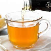 When you're sick, try a Chai Hot Toddy to ease some of your cold symptoms. The lemon and honey should help soothe your throat and loosen congestion, and if all else fails, it's hot, tastes good, and has alcohol. ;) From BakingMischief.com