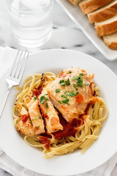 Easy Baked Chicken Parmesan for Two