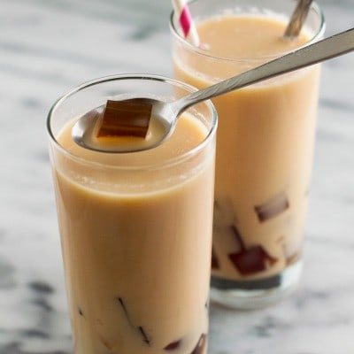 Milk Tea With Coffee Jelly