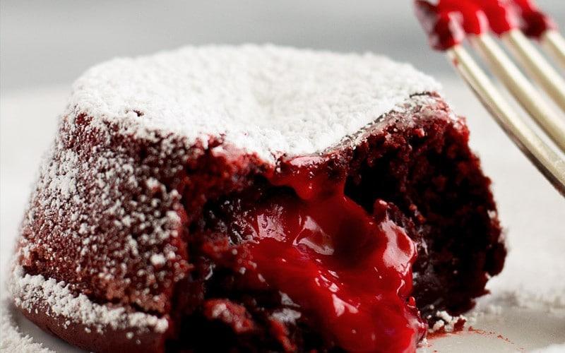 Red Velvet Lava Cakes for Two