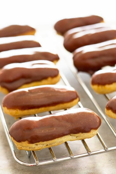 Small-Batch Mini Pumpkin Eclairs
