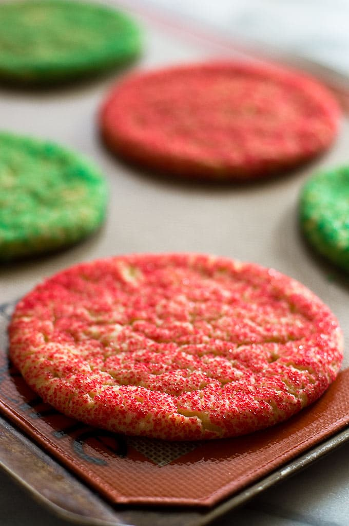This Small-batch Giant Christmas Cookies recipe makes six perfect and sprinkle-covered sugar cookies. Recipe includes nutritional information. From BakingMischief.com.