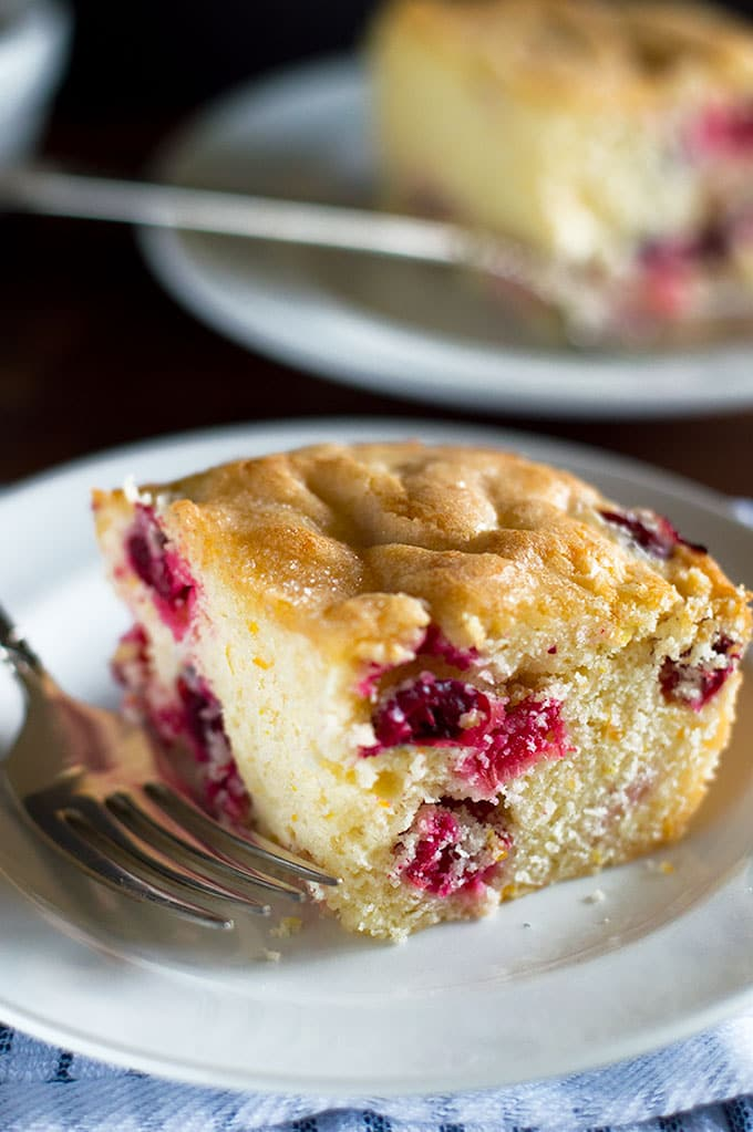 This Mini Cranberry Breakfast Cake is a perfect easy breakfast for two to four. Recipe includes nutritional information. From BakingMischief.com