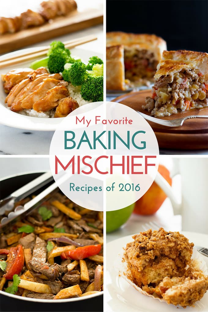 My top 10 favorite BakingMischief.com recipe posts of 2016.