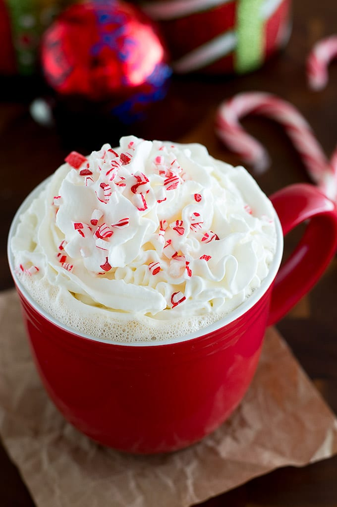 Candy Cane White Chocolate Peppermint Mocha Baking Mischief