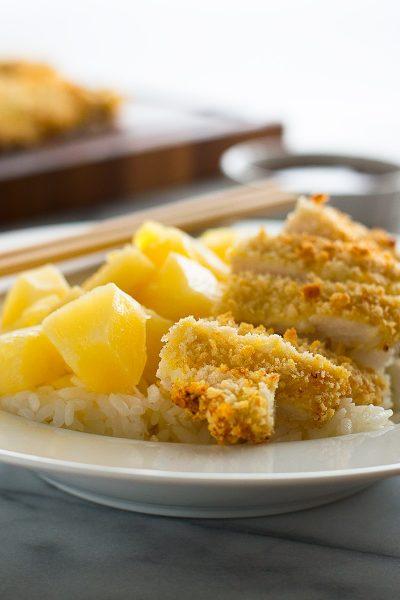 Easy Baked Chicken Katsu with Pineapple Katsu Sauce