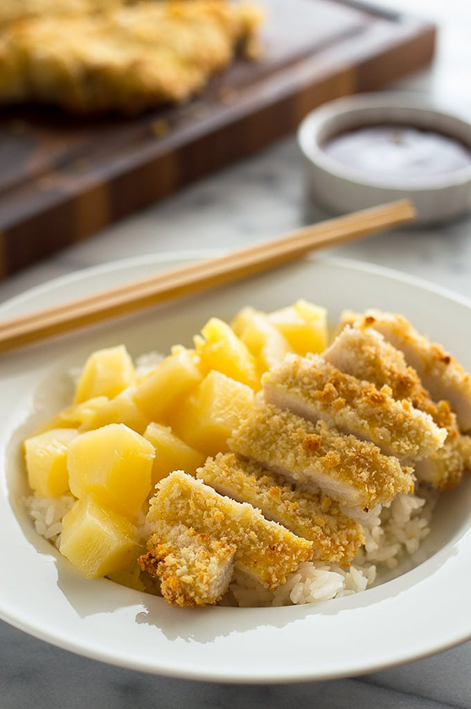 Baked Chicken Katsu is a fast, easy dinner. From BakingMischief.com