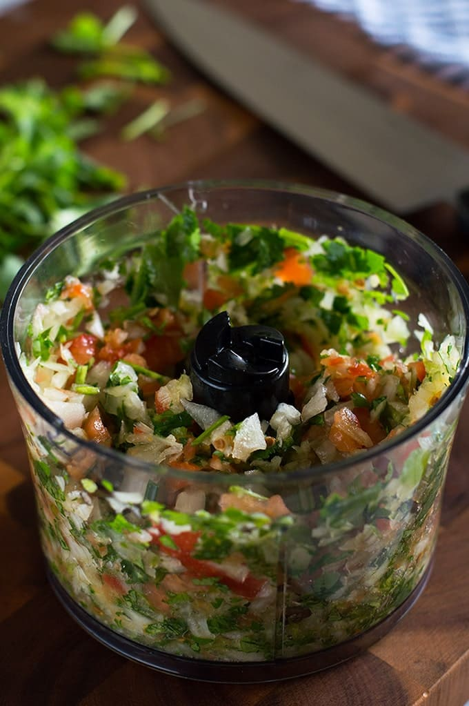 This easy small batch of Pico de Gallo recipe makes just enough for a single meal. From BakingMischief.com