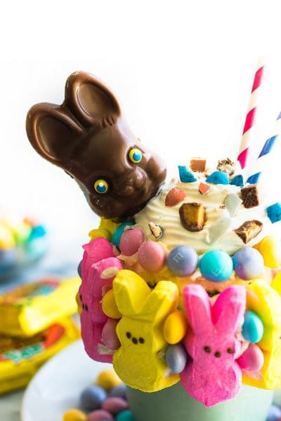 Leftover Easter Candy Freakshake
