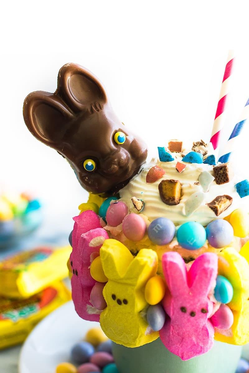 Leftover Easter Candy Freakshake Baking Mischief