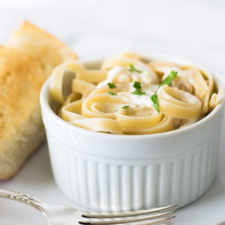 Quick and Easy Fettuccine Alfredo for One